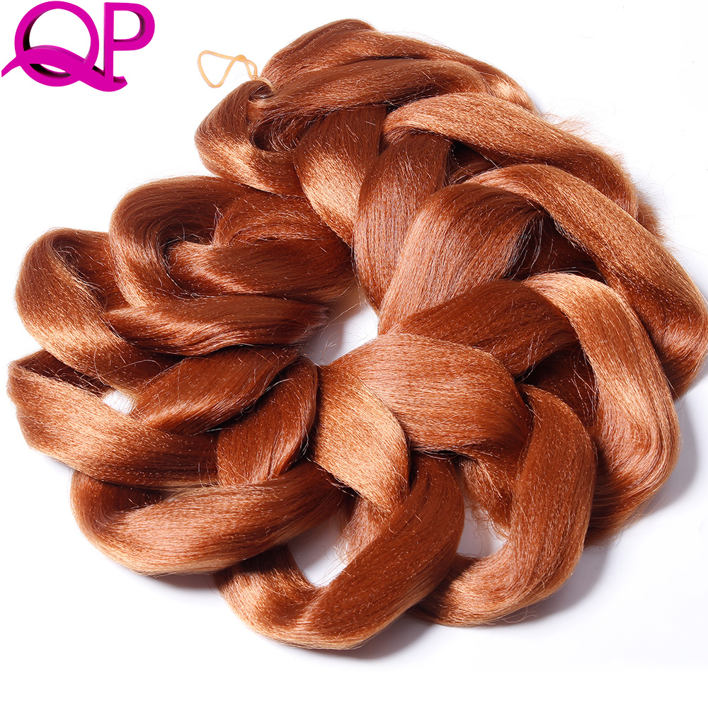 Qp Hair Braiding Hair Bulk 82inch 165g Synthetic Jumbo Braids Hair Extensions Kanekalon Hair 1piece/lot Hair Braids