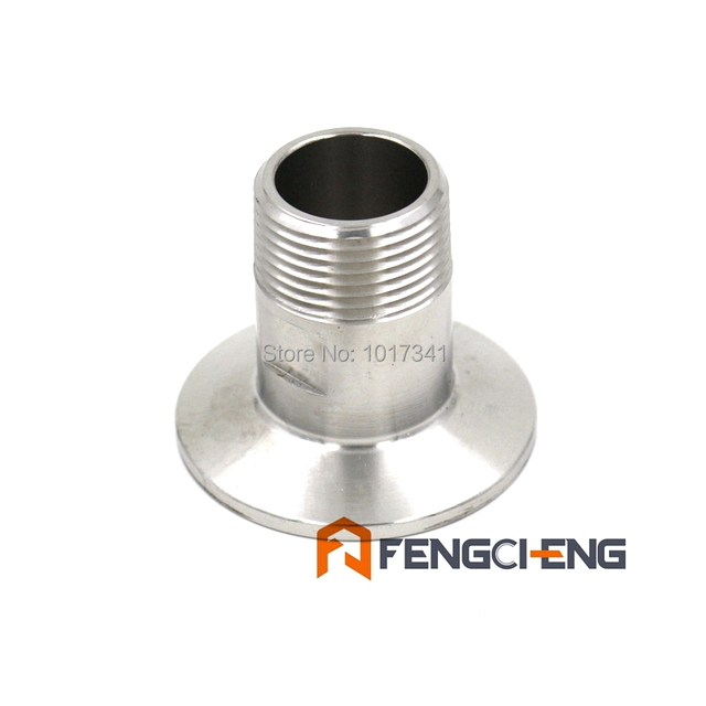 "1.5"" TC x 3/4"" Male NPT, SS304, 3A Standard, Homebrew Clover Fitting, Brewer Hardware, Sanitary Hardware"