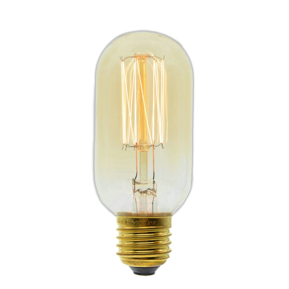 Handmade Edison Lamps Carbon Filament Clear Glasss Edison Retro Vintage Incandescent Bulb 40w/60w 220v E27 T45 Incandescent Bulbs Lights & Lighting