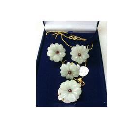 Necklace-Set Earrings Natural Grade-Latest Wholesale Design Nice Women Stone-Flower-Pendant
