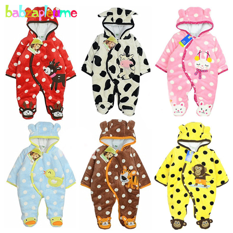 0-12Months/Autumn Winter Baby Costume Infant Clothes Girls Boys Romper Warm Cartoon Cute Hooded Jumpsuit Newborn Clothing BC1372 infant animal romper baby boys girls jumpsuit newborn clothing hooded toddler baby clothes cute romper baby costume fz044 16