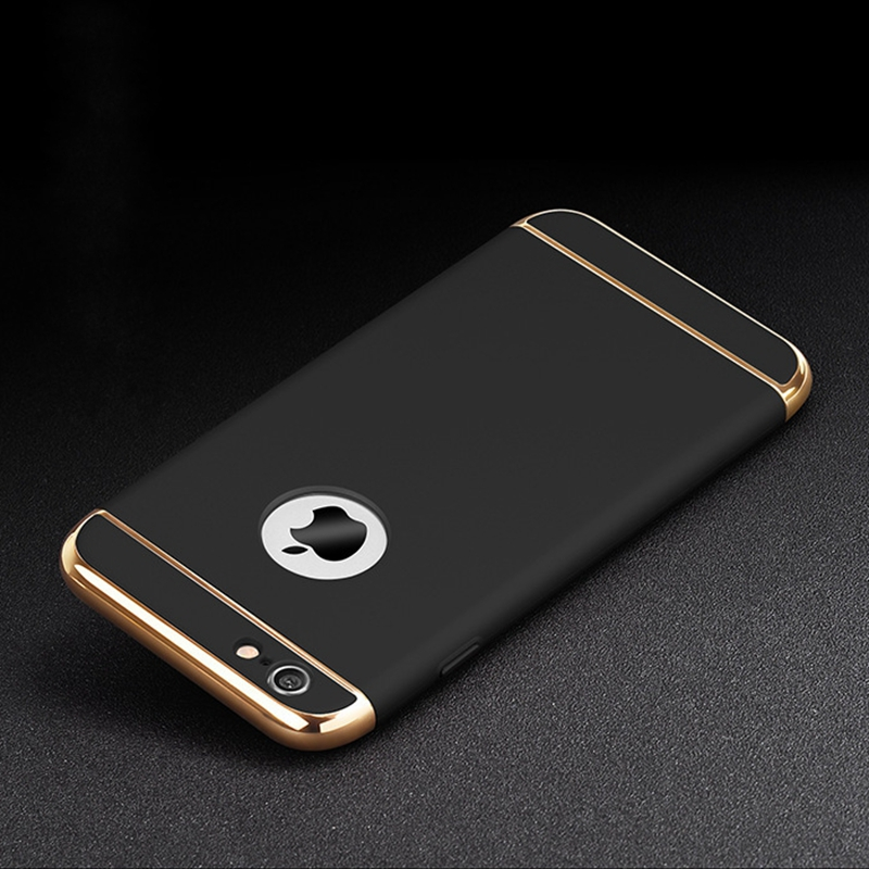 for iphone 6s plus 6 Case iphone6 Gold Luxury Back Hard Cover Black acc
