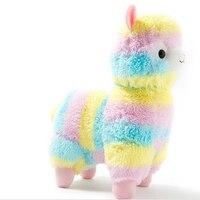 Hot Sale 35cm Rainbow Alpaca Plush Sheep Toy Japanese Soft Plush Alpacasso Baby 100 Plush Stuffed