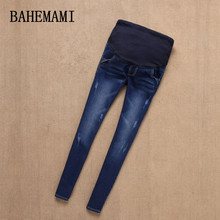 BAHEMAMI джинсы для беременных, брюки для беременных женщин, джинсы для кормящих, длинные леггинсы для живота, облегающая Одежда для беременных, брюки