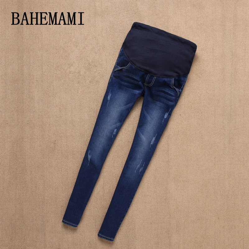 BAHEMAMI Maternity Jeans Pants For Pregnant Women Nursing Jeans Long Prop Belly Legging Skinny Clothes For Pregnancy Trousers ripped skinny ankle jeans