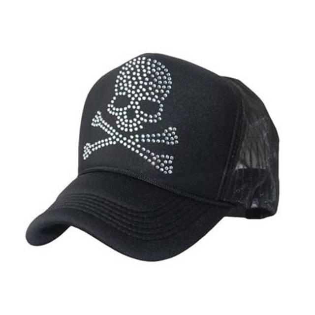 b33dbd820a12 placeholder BHESD 2017 S Trucker Hat Skull rhinestone baseball cap Women  snapback hip hop hat Men Dad