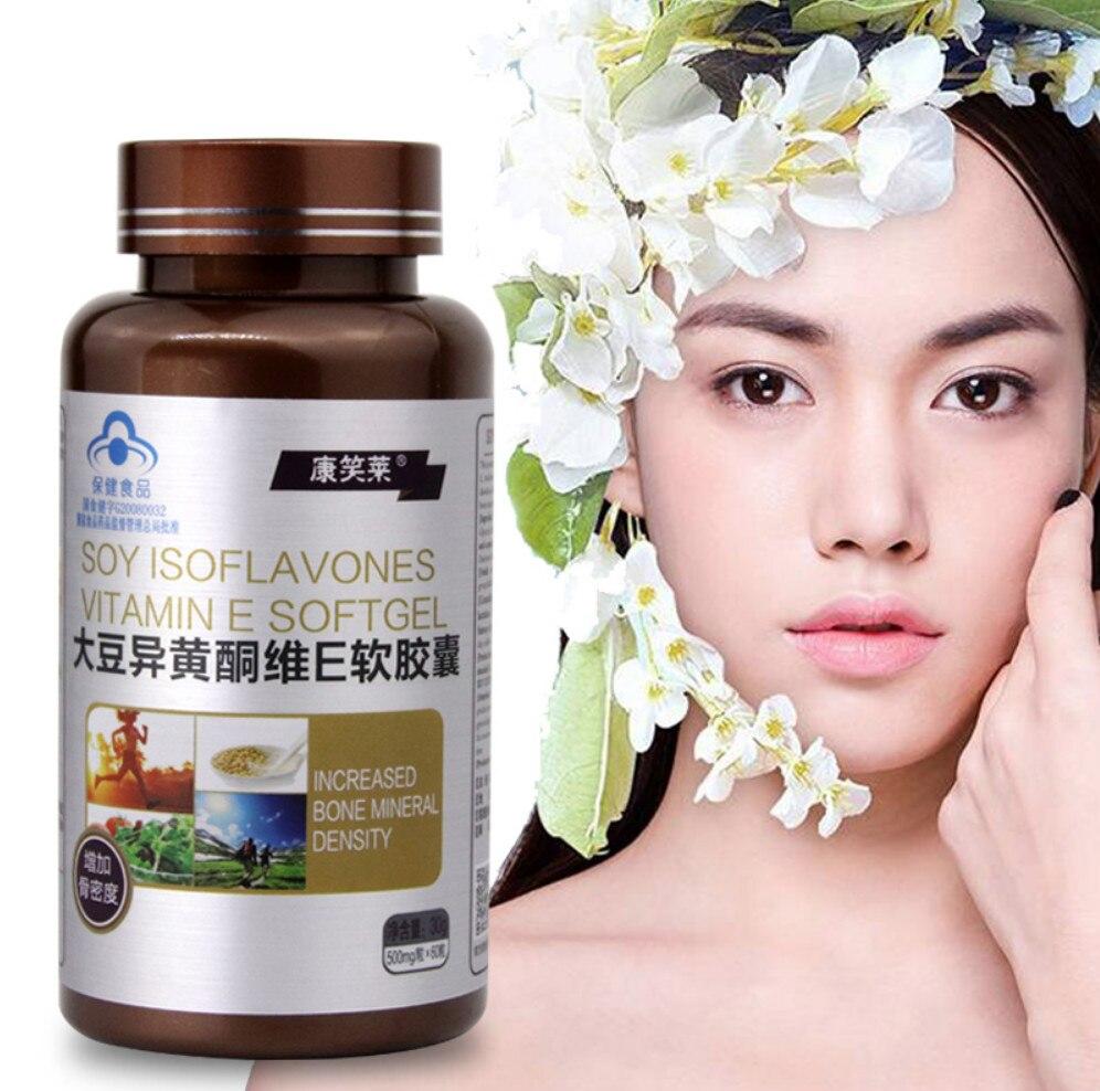 500 мг/гранул чистый натуральный соевый изофлавон экстракт для Женский антивозрастной увеличение плотности кости для менопаузы тела релаксации