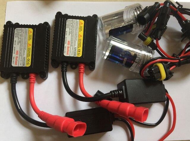 Kit de Lastre delgado Xenon Hid Kit 35 W H4 xenon H1 H3 H7 H8 H10 H11 H13 H27 HB3 HB4 9005 9006 bombillas de Los Faros Del Coche fuente de luz lámpara