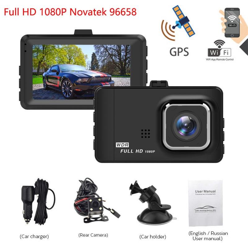 Car DVR GPS Wifi 3.0 inch Novatek 96658 Full HD 1080P Cyclic Recording Car Dvr Camera Recorder Night Vision Dash cam цены