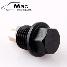 Free shipping M12*1.25 High quality aluminum magnetic oil drain Plug  sump drain Nut oil pan plug with logo