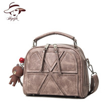 2018 New Arrivals Vintage Small Women Messenger Bags Shell Top Handle Leather Handbag Fashion Patchwork Crossbody Shoulder Bags