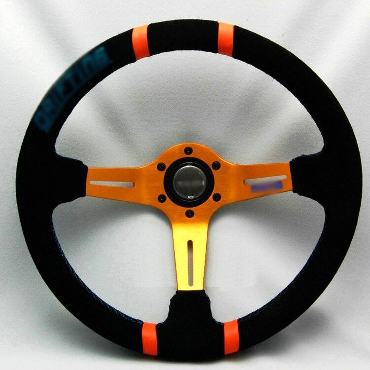 Ipoboo Новый Универсальный спортивный 13050/340 мм замши глубокое блюдо Руль желтый