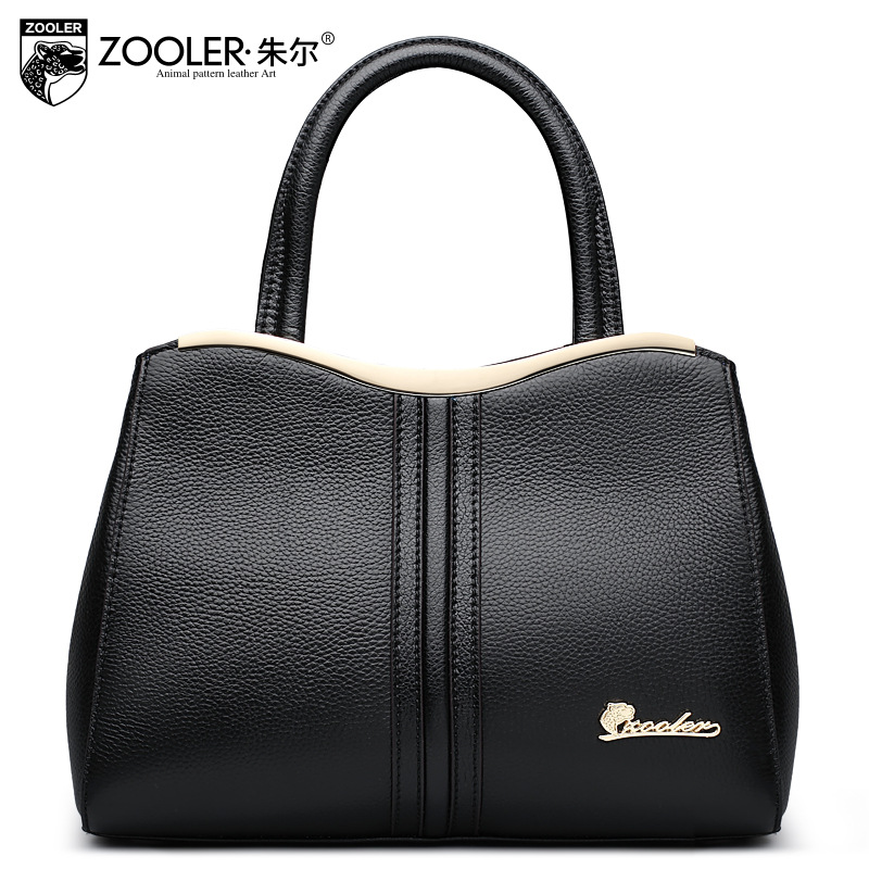ZOOLER Women Genuine Leather Handbag Ladies Tote Bag Casual Simple Designer Handbags High Quality Hand Bag Female Shoulder Bags zooler women handbag elegant ol shoulder bag ladies cow leather handbags fashion corssbody bags designer genuine leather handbag