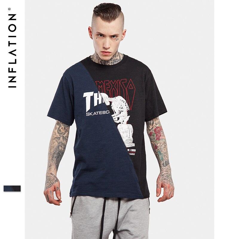Inflation 2017 men streetwear top tees casual urban for Urban streetwear t shirts