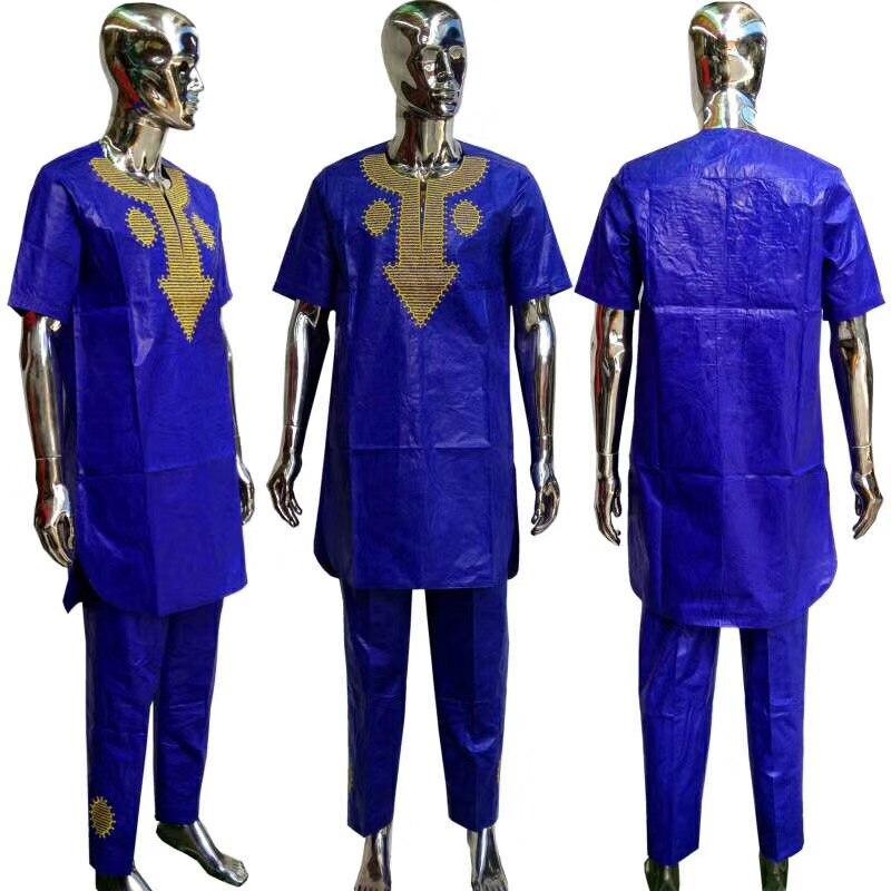2019 nouveauté hommes africains bazin riche vêtements