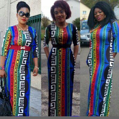 Новая мода 100% хлопок Базен печать Дашики Yamadou эластичные Цвет узор Дашики платье для леди
