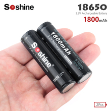 Soshine 18650 Battery 1800mAh 3.2V 18650 Rechargeable Battery Li-ion Lithium Bateria for LED Flashlight Torch Lithium Batteries soshine rechargeable 1800mah lifepo4 18650 batteries black 2 pcs