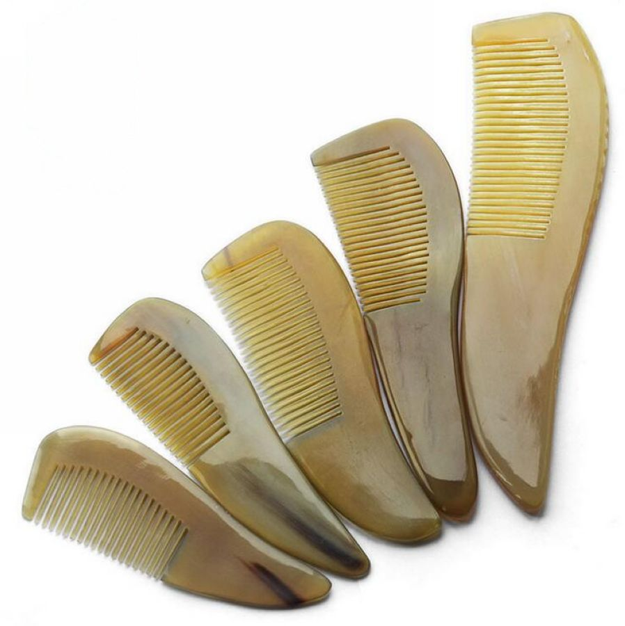 Natural anti-static buffalo Horn art Comb Hair Care massage brush wide teeth comb straight hair hairbrush combs gift планшет apple ipad mini 4 wi fi cellular 128gb space gray mk762ru a