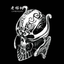 1pcs GARO Skull Men Rings Domineering personality Single tide Punk titanium steel jewelry