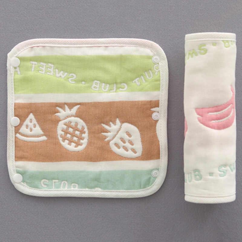2 ชิ้น/เซ็ตเด็กการ์ตูนพิมพ์ทารก Bibs เด็กวัยหัดเดิน Burp ผ้า Carrier ผ้าฝ้าย Burp ผ้าผ้ากันเปื้อนเด็ก bib