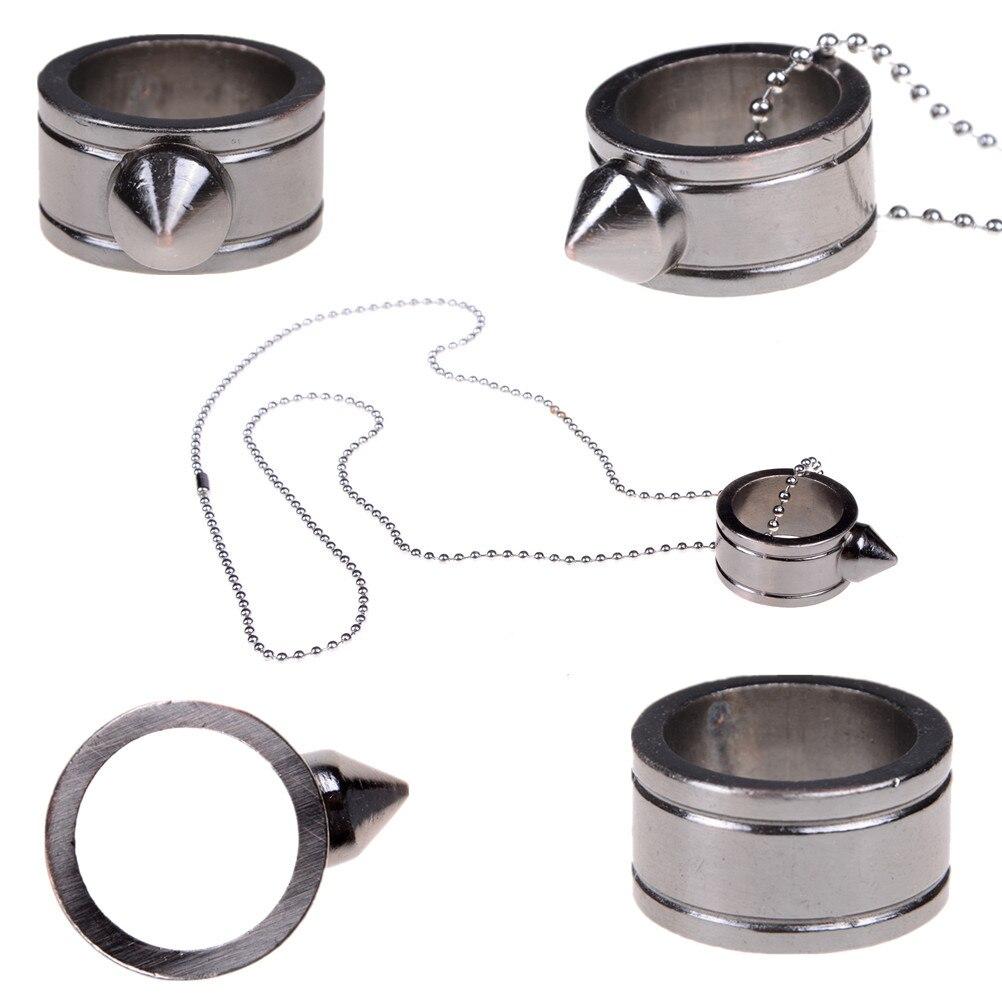 Personnalisé femmes et hommes anneau en acier knuckle armes Punk Anti-loup anel masculino bijoux en gros