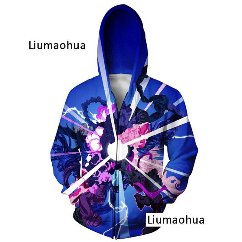 Liumaohua Sweatshirt 3d Printed Zip Hoodies Women Men Autumn Style Dinosaur Jumper Jacket Hoodies & Sweatshirts