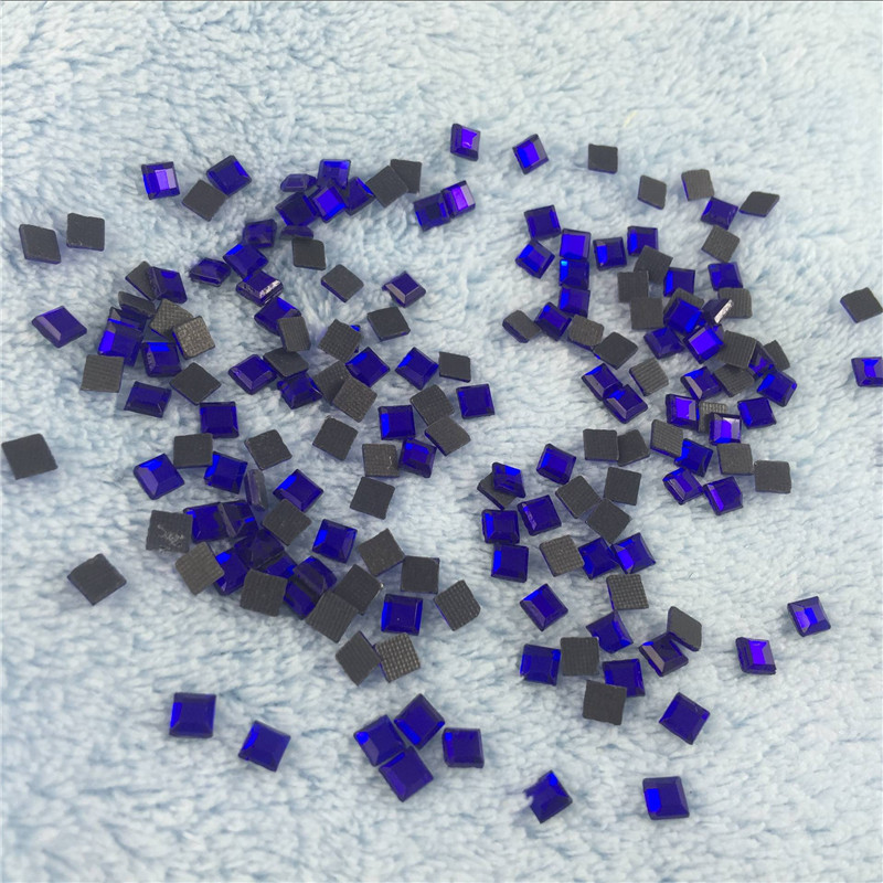500pcs lot 4 4mm Royal Blue Rhinestones Square Diamonds Crystals For Decoration  Stones Rhinestones For Embroidery-in Rhinestones from Home   Garden on ... 35eb11c6c600