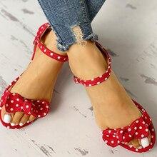 leisure Plus large Big sizes 44 flip flop comfortable flat INS sweet polka dot Summer women
