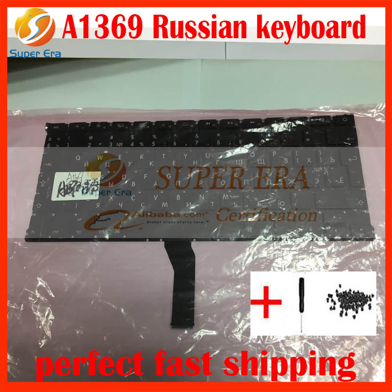 5pcs/lot A1369 A1466 original russia keyboard for macbook air 13'' A1369 A1466 RU Russian keyboard clavier without backlight hsw rechargeable battery for apple for macbook air core i5 1 6 13 a1369 mid 2011 a1405 a1466 2012