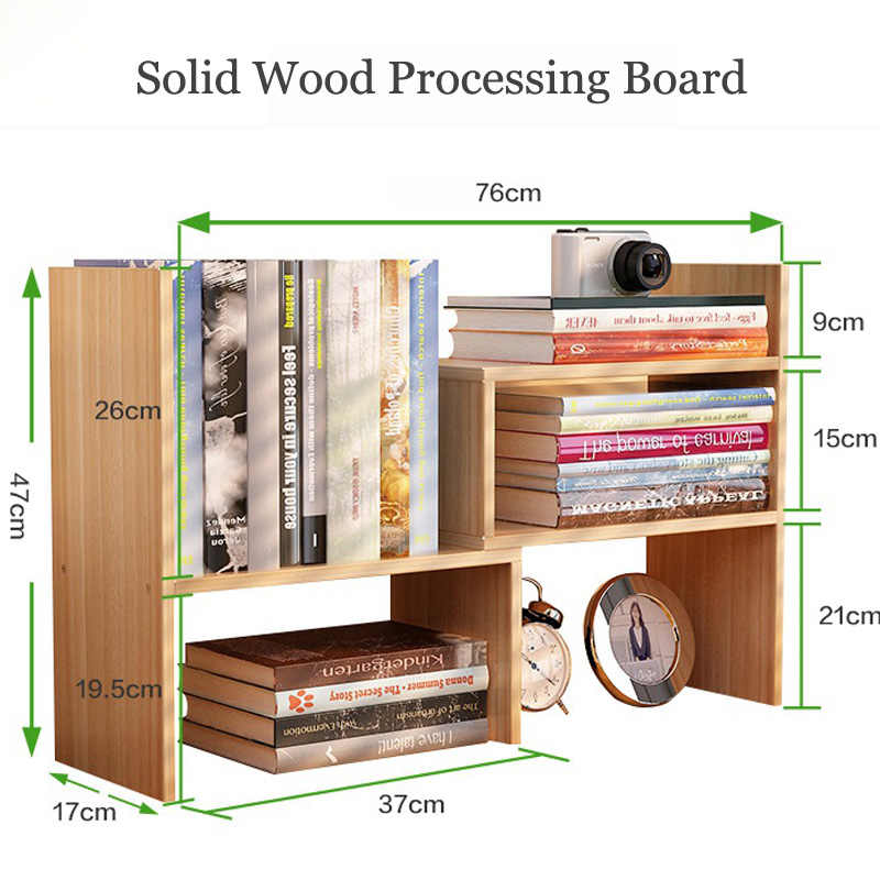 Safety round corner design DIY Office bookcase Desk bookshelf Portable shelf