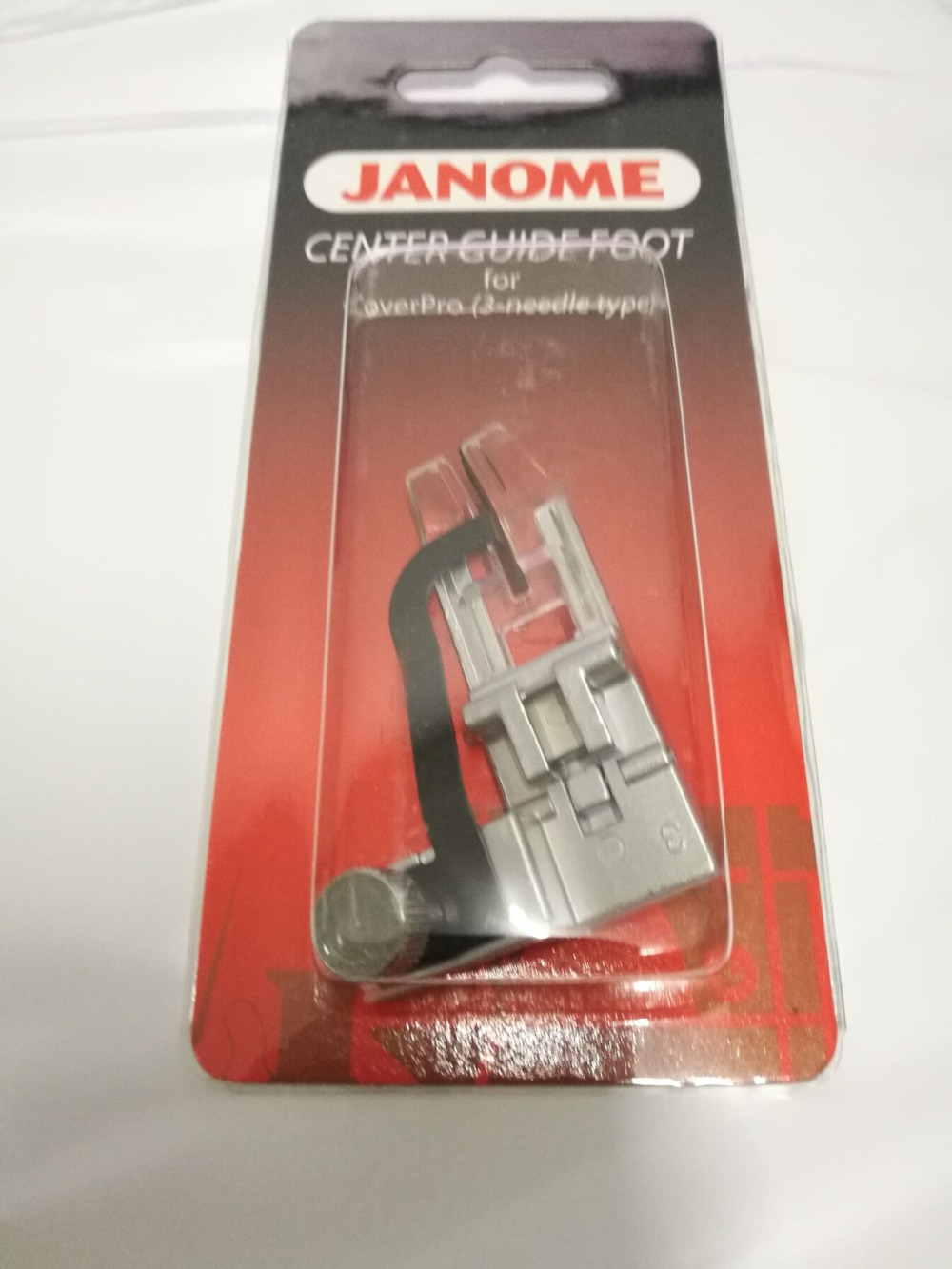 CENTER GUIDE FOOT #795819108 FOR JANOME 1000CPX COVERPRO COVERSTITCH MACHINE