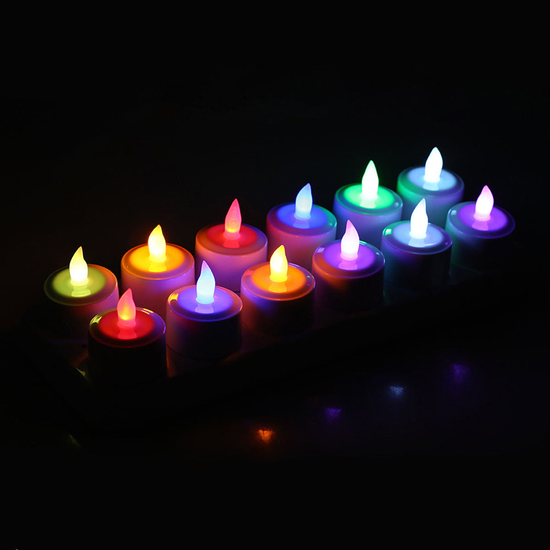 Set Of 12 Remote Controlled Rechargeable Tea Light Frosted Flameless Led Candle Lamp Xmas Wedding Home Party Bar Table Multicolo Candles Aliexpress