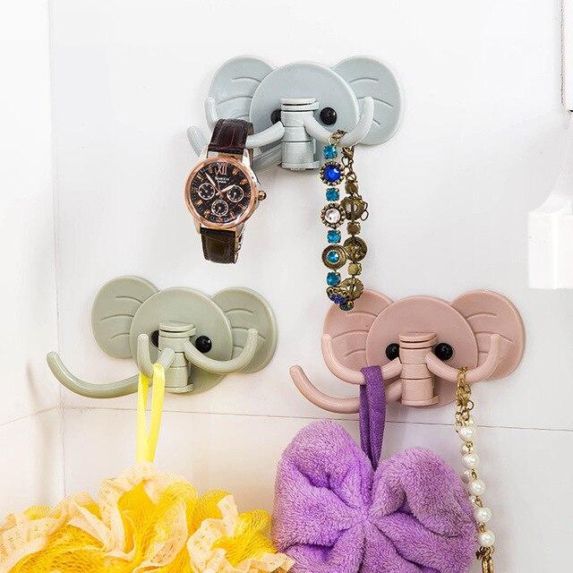 Creative Adhesive Elephant Hanging Hook Nail Behind The Door Hook