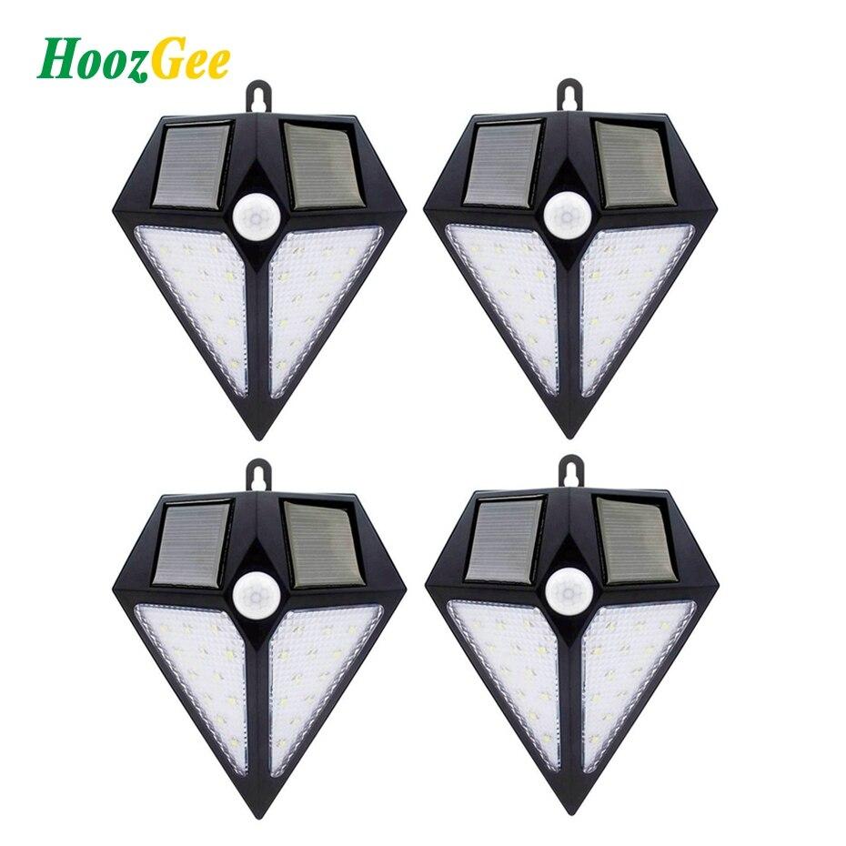 HoozGee Solar Wand Lichter Garten Im Freien Straße Lampe PIR Motion Sensor 6/24 LED Super Helle Sicherheit Beleuchtung für Decor
