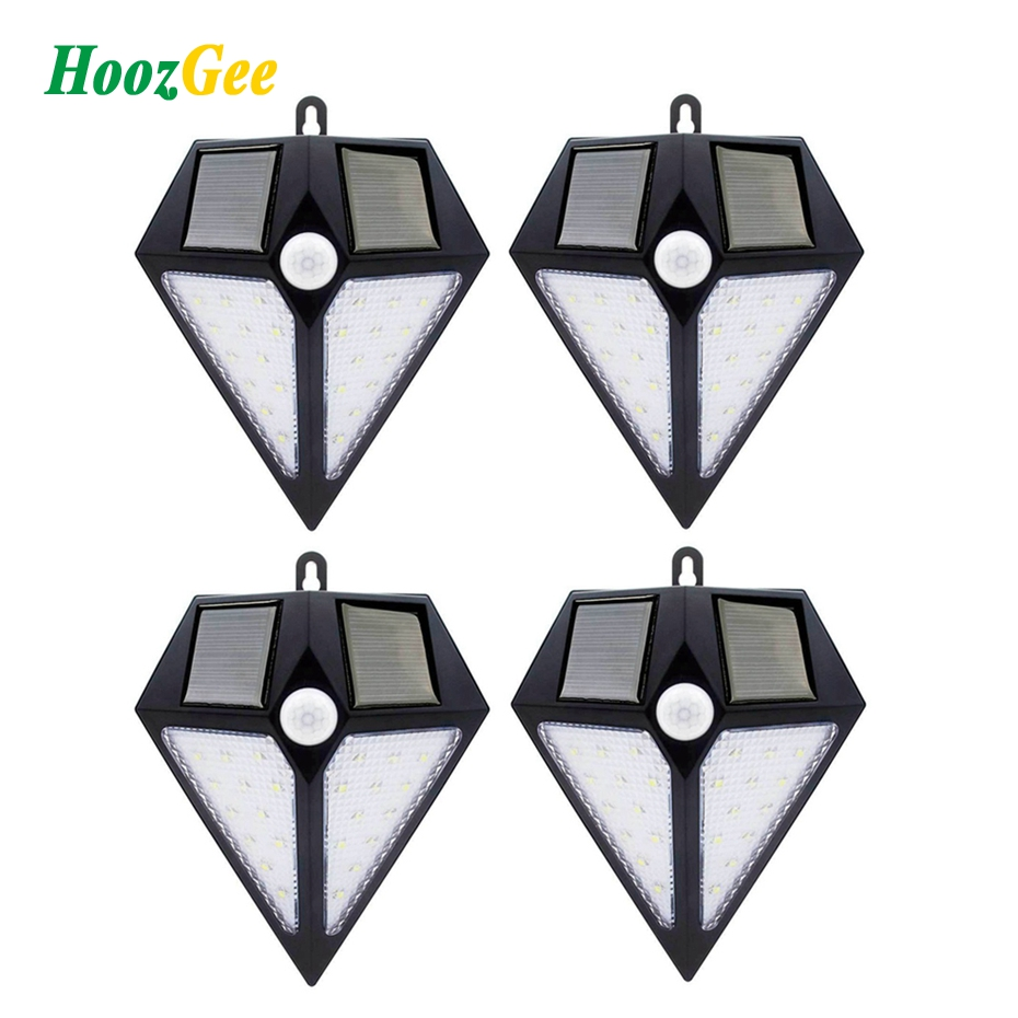 HoozGee pared Solar al aire libre jardín lámpara de calle PIR Sensor de movimiento 6/24 LED Super brillante iluminación de seguridad para la decoración