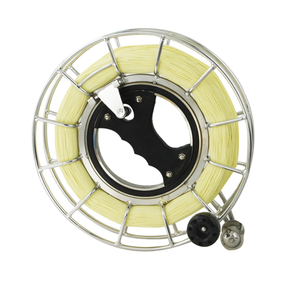 9.5inch / 24CM Silent Kite String Reel Bearing Steel Kite Line Winder With 1000ft 150lb Braided Kevlar Line