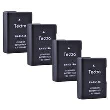 Batteries ENEL14 pour Nikon, 4 pièces, 1500mAh EN-EL14 EN-EL14a D3100 D3200 D3300 D3400 D5100 D5200 D5300 D5500 P7700 D3500 D7000