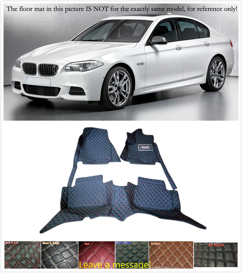 Customs 5 Seats 1 Set Car Floor Mat Leather Waterproof Front & Rear Floor Mats Carpets Pads for BMW 5 Series F10 2010 2011 -2013 цены