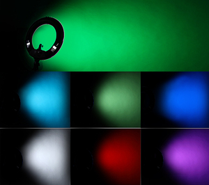 Image 5 - Yidoblo rgb app control ring light led vídeo luz beleza unha pele fotografia estúdio anel lâmpada + tripé + kit de bolsa