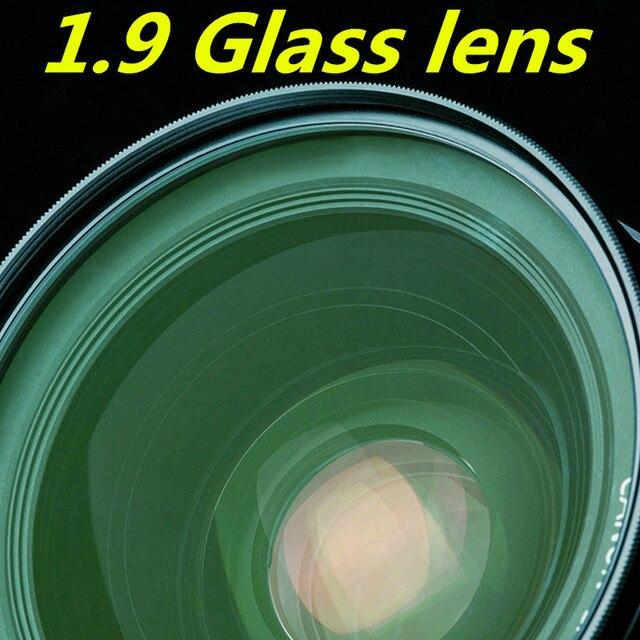 Стеклянный объектив 1.9 высокого преломления зеленый фильм асферические линзы высокой четкости ультратонкий высокая близорукость рецепту объектив