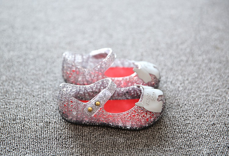 17 new fashion girls shoes Bow jelly sandals female child soft outsole princess shoes open toe shoes kids sandals baby shoes 8