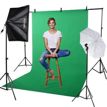 50*70cm Softbox + 2m Light Stand + Photography 135W Lamp Bulb + Storage Bag =Photo Studio Kit