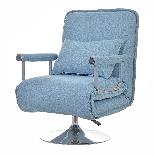 Cadeira de Escritório multifuncional Dobrável Cadeira Sala de estar Simples Cadeira Dobrável Cadeira Do Sofá Cama Macia