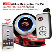 mobile app gsm car alarm system gps exact location keyless entry ignition button start stop feature smart anti robbery function