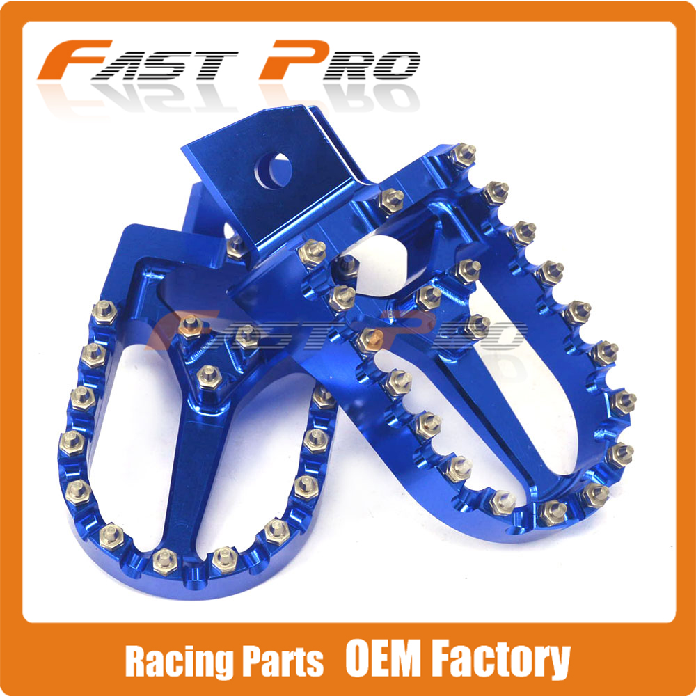 US $51 54 20% OFF|Blue Billet MX Wide Foot Pegs Rests Pedals Footpegs For  YAMAHA PW50 PW80 PW 50 80 ALL YEAR TW200 TW 200 1987 2007 2008 2009-in Foot