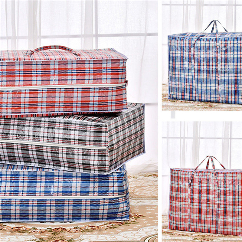 Hot Home Useful Moving Bag Jumbo Laundry Bags Zipped Reusable Extra Large Strong Ping Storage