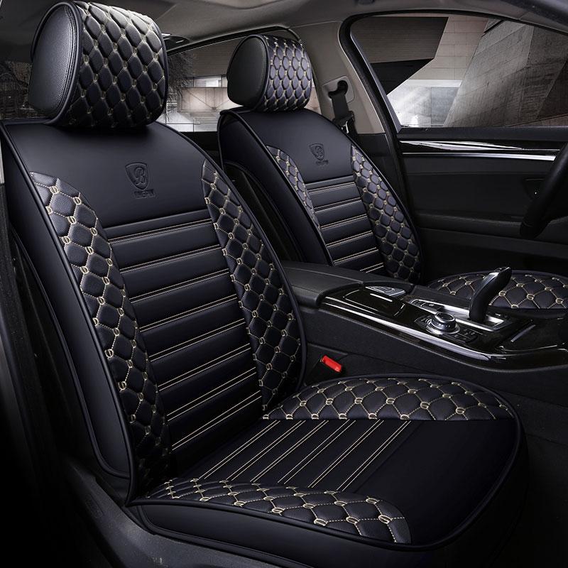 Tapete protetor de assento de carro de couro cobre assentos de carro universal para a lexus lx470 lx570 emgrand_ec7 x7 emgrand ec7 geely ck mk cruz sc7