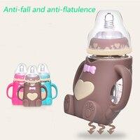 母子用品、新生児、ワイド口径ボトル、抗秋、抗鼓腸、ハンドルベビー哺乳ガラスボトル