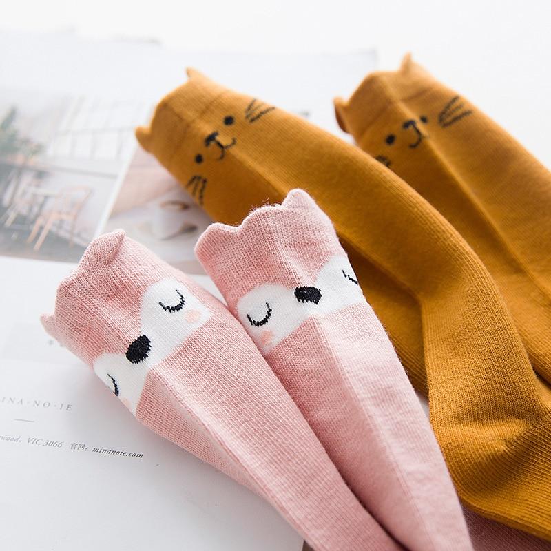 9fc4e89a2 Newborn Infant Knee High Socks Anti slip Baby Boy Girl Socks Lovely Cartoon  Cat Fox Rabbit Leg Warmers-in Socks from Mother   Kids on Aliexpress.com ...