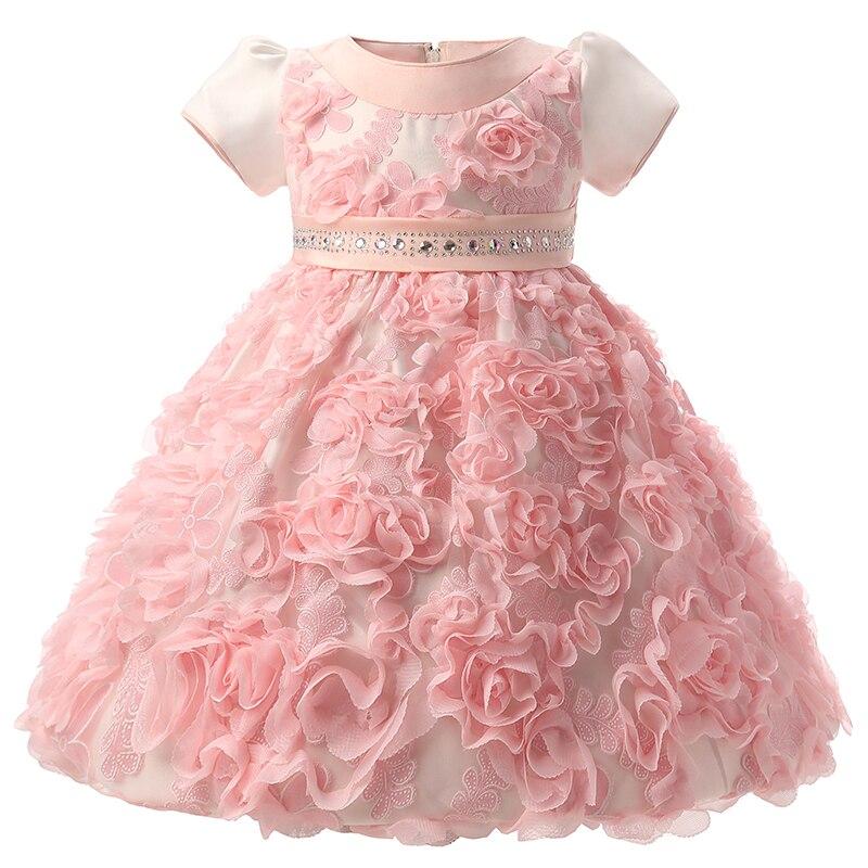 infant dress baby girl clothes flower baby girl dress wedding princess 1 year birthday newborn. Black Bedroom Furniture Sets. Home Design Ideas